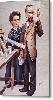Caricature Of Pierre And Marie Metal Print by Everett