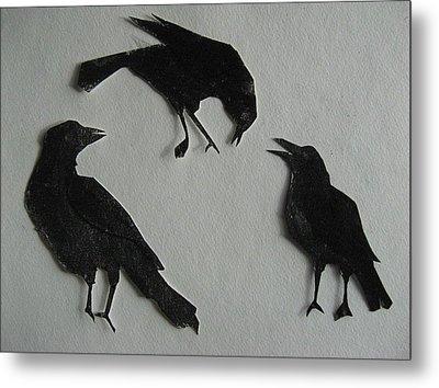 Carl's Crows Metal Print by Betty Pieper