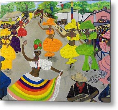 Carnival In Port-au-prince Haiti Metal Print by Nicole Jean-Louis