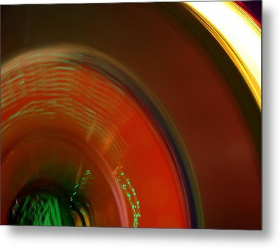 Carnival Lights Metal Print by Michelle Calkins