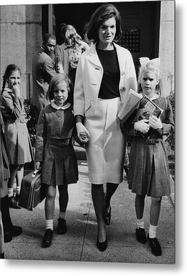 Caroline Kennedy Front Left, Jacqueline Metal Print by Everett