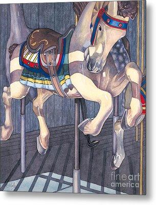 Carousel Horse Metal Print by Linda Wells