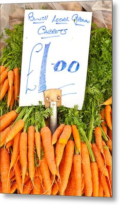 Carrots Metal Print by Tom Gowanlock