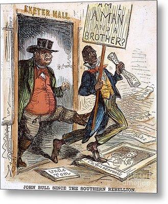 Cartoon: Slavery, 1861 Metal Print by Granger