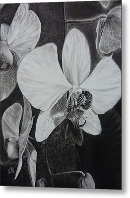 Cascade Of Orchidds Metal Print by Estephy Sabin Figueroa