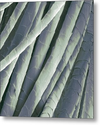 Cashmere Wool Fibres, Sem Metal Print by Steve Gschmeissner