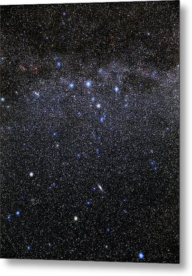 Cassiopeia And Andromeda Constellations Metal Print by Eckhard Slawik