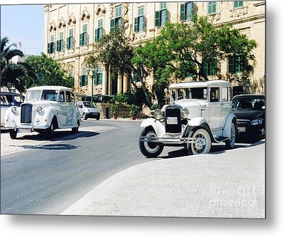 Castille Square Metal Print by John Chatterley