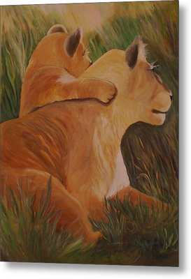 Cat Family Metal Print by Christy Saunders Church