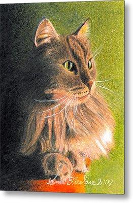 Cat Miniature Metal Print by Ana Tirolese