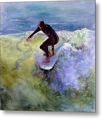 Catch A Wave Metal Print by Bonnie Rinier