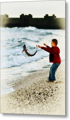 Catch And Release Metal Print by Bill Cannon