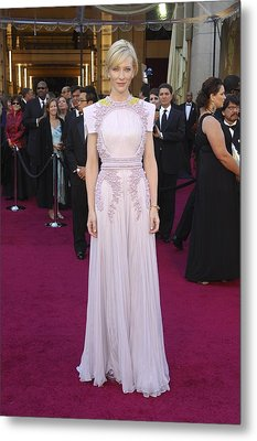 Cate Blanchett  Wearing A Givenchy Metal Print by Everett