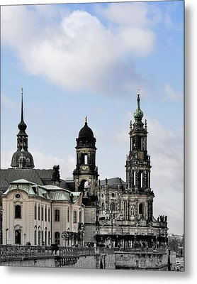 Catholic Church Of The Royal Court - Hofkirche Dresden Metal Print by Christine Till