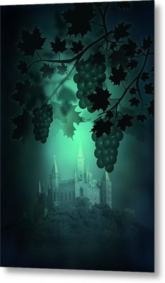 Catle And Grapes Metal Print by Svetlana Sewell