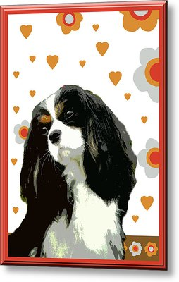 Cavalier King Charles Spaniel Metal Print by One Rude Dawg Orcutt