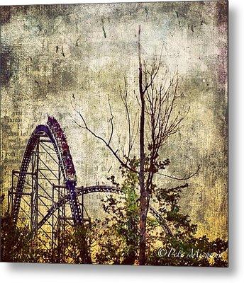 #cedarpoint #rollercoaster #ohio Metal Print by Pete Michaud