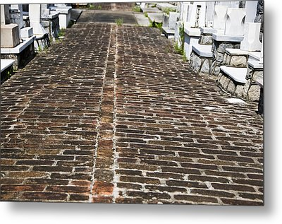 Cemetary Path Metal Print by Ray Laskowitz
