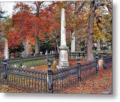 Cemetery Scenery Metal Print by Janice Drew