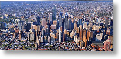 Center City Aerial Photograph Skyline Philadelphia Pennsylvania 19103 Metal Print by Duncan Pearson