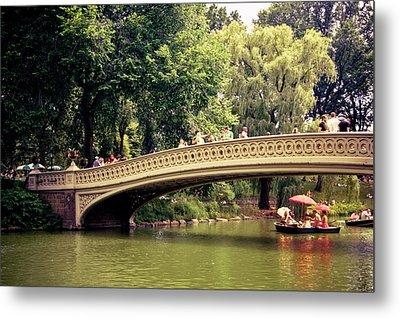 Central Park Romance - Bow Bridge - New York City Metal Print by Vivienne Gucwa