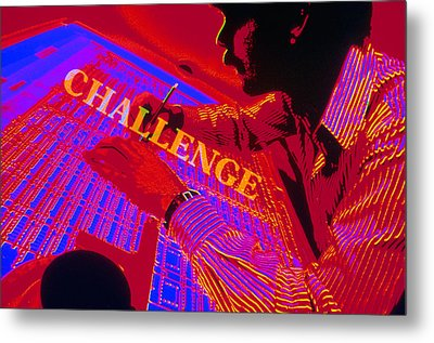 Challenge Metal Print by Jerry McElroy