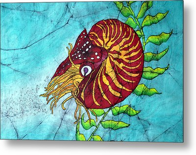 Chambered Nautilus Metal Print by Shari Carlson