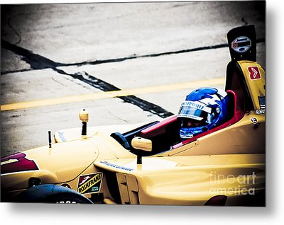 Champ Car Driver Metal Print by Darcy Michaelchuk