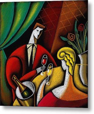 Champagne And Love Metal Print by Leon Zernitsky