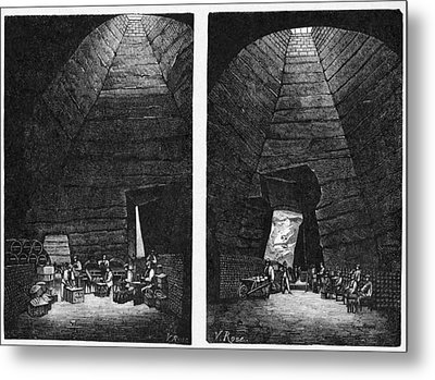 Champagne Production, 19th Century Metal Print by Cci Archives