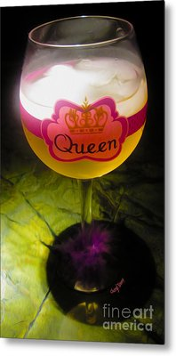 Chardonnay Queen Metal Print by Cheryl Young