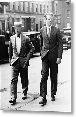 Charles A. Lindbergh And New Jersey Metal Print by Everett