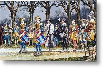 Charles I's Last Walk  Metal Print by Ron Embleton