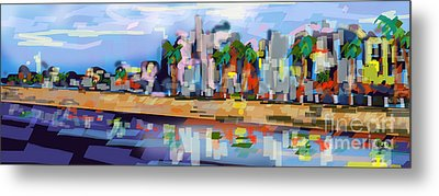Charleston South Carolina The Battery Metal Print by Ginette Callaway