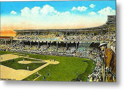Charlie Comiskey Overlooking His Park In Chicago 1920 Metal Print by Dwight Goss
