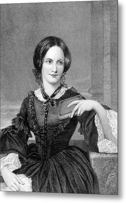 Charlotte Bronte 1816-1855, British Metal Print by Everett