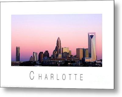 Charlotte Nc Skyline Pink Sky Metal Print by Patrick Schneider