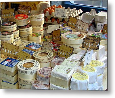 Cheese For Sale Metal Print by Carla Parris