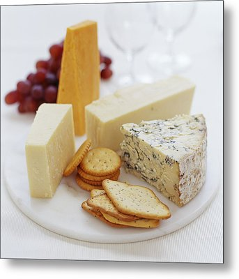 Cheese Selection Metal Print by David Munns