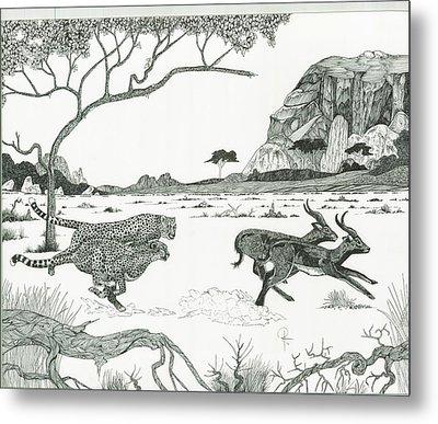 Cheetah Twins  Metal Print by Doug Hiser
