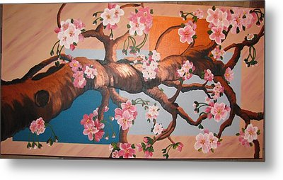 Cherry Blossoms Metal Print by Sylvia Wanty