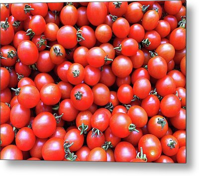 Cherry Tomatoes Metal Print by Junku