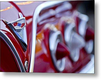 Chevrolet Impala Emblem Metal Print by Jill Reger