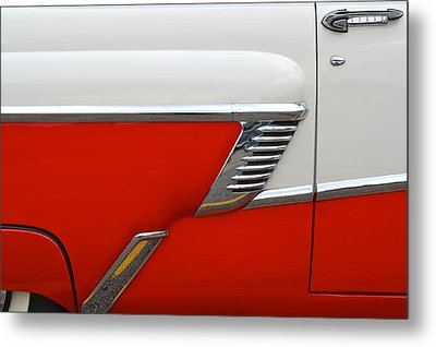 Chevy Door Metal Print by Frozen in Time Fine Art Photography