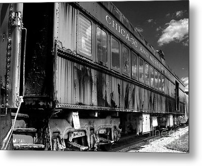 Chicago And Northwestern Train Metal Print by Marc Henderson