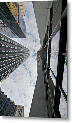 Chicago - Look Towards The Sky Metal Print by Christine Till