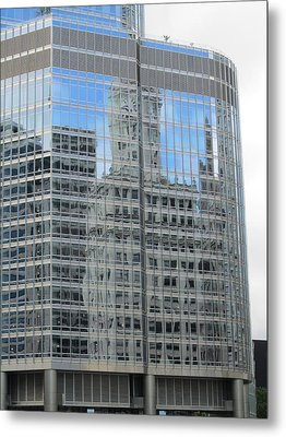 Chicago Reflection-3 Metal Print by Todd Sherlock