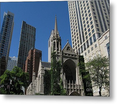 Chicago Skyline Metal Print by Arlene Carmel