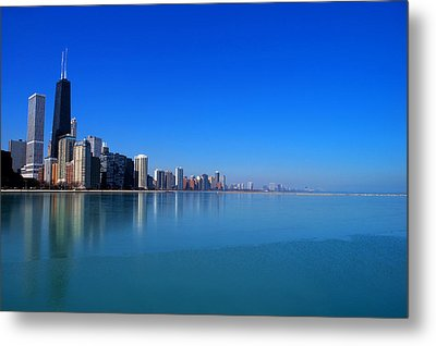 Chicago Skyline Metal Print by Paul Ge