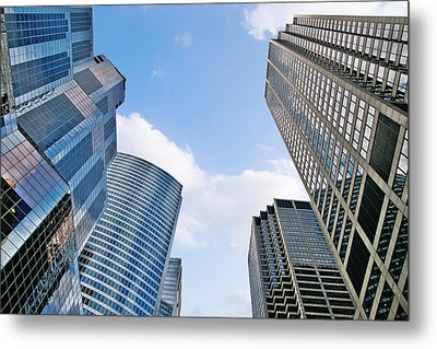 Chicago - Skyscrapers Are Looking Down On Us Metal Print by Christine Till